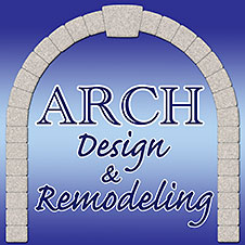 Kitchen and bath remodeling at Arch Design. Also patio, deck, fireplace, whole house.
